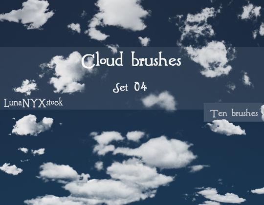18 Free Cloud Photoshop Brushes 15
