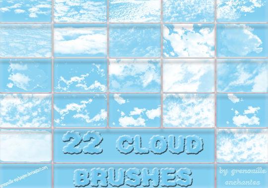 18 Free Cloud Photoshop Brushes 13