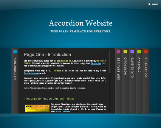 Collection Of Free Flash Website Templates With FLA Source Files 19