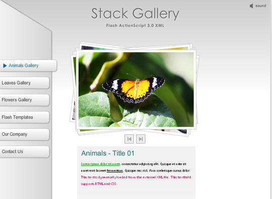 Collection Of Free Flash Website Templates With FLA Source Files 27