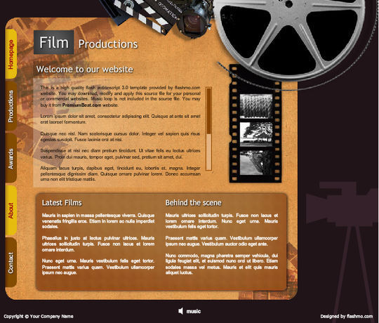 Collection Of Free Flash Website Templates With FLA Source Files 32