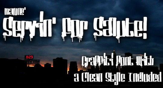 20 Free And Eye-Catching Graffiti Fonts 4