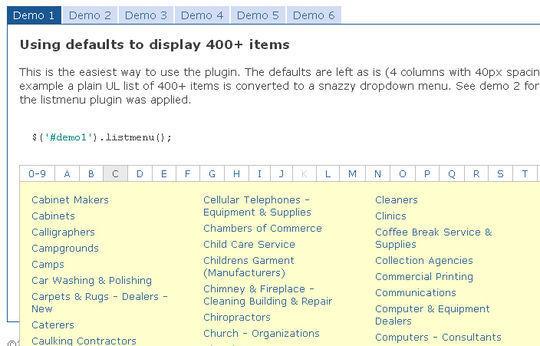 40+ Powerful jQuery Navigation Plugins And Tutorials 30