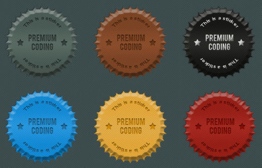 40 Beautifully Designed Stickers, Tags And Badges In PSD Files 10