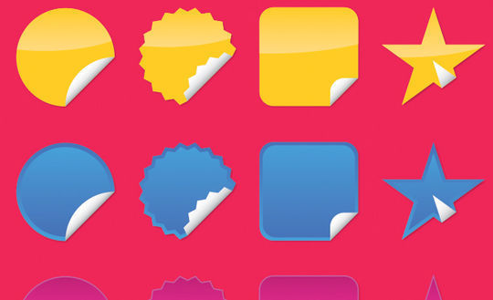 40 Beautifully Designed Stickers, Tags And Badges In PSD Files 16