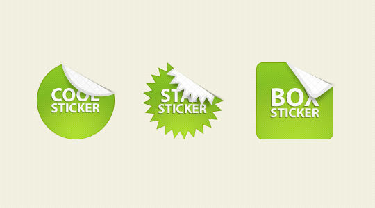 40 Beautifully Designed Stickers, Tags And Badges In PSD Files 17