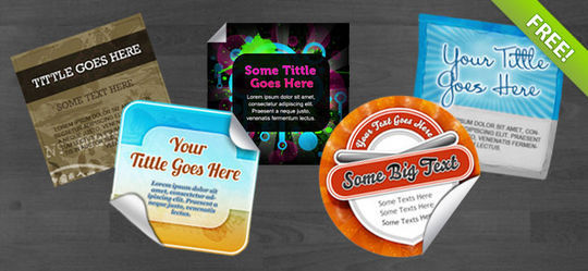 40 Beautifully Designed Stickers, Tags And Badges In PSD Files 11