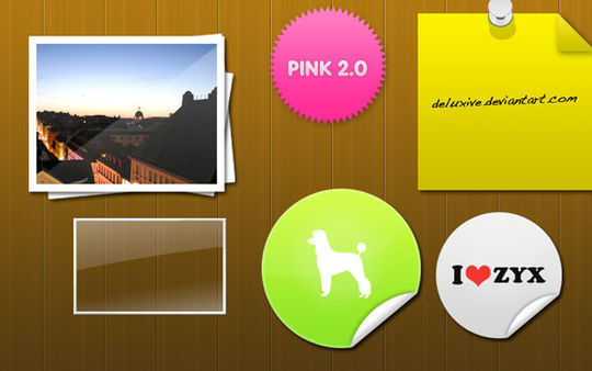 40 Beautifully Designed Stickers, Tags And Badges In PSD Files 27