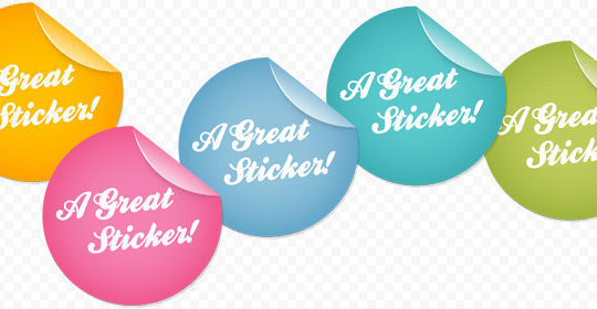 40 Beautifully Designed Stickers, Tags And Badges In PSD Files 39