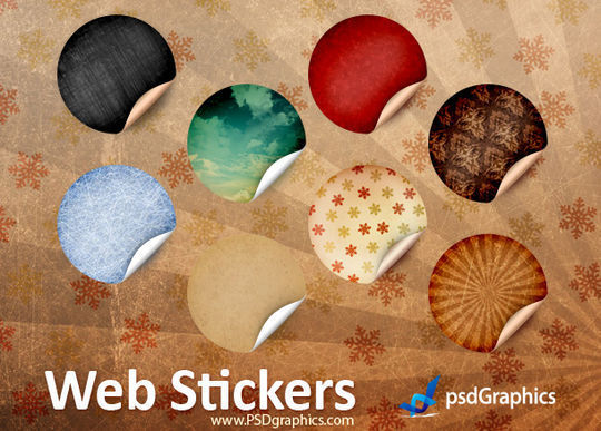 40 Beautifully Designed Stickers, Tags And Badges In PSD Files 3