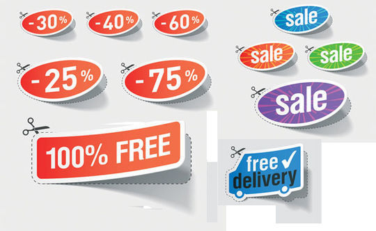 40 Beautifully Designed Stickers, Tags And Badges In PSD Files 4