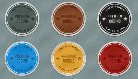 40 Beautifully Designed Stickers, Tags And Badges In PSD Files 15