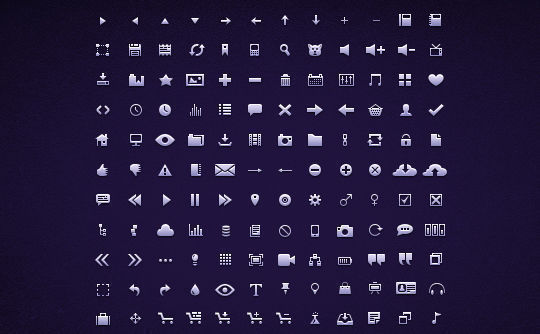 40 Symbols, Signs, Glyph And Simple Icon Sets For Your Design 9