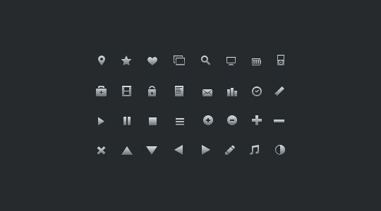 40 Symbols, Signs, Glyph And Simple Icon Sets For Your Design 19