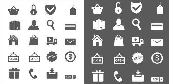 40 Symbols, Signs, Glyph And Simple Icon Sets For Your Design 20