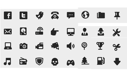 40 Symbols, Signs, Glyph And Simple Icon Sets For Your Design 22