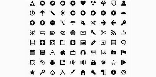 40 Symbols, Signs, Glyph And Simple Icon Sets For Your Design 23