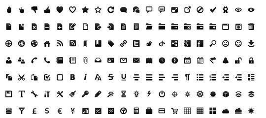 40 Symbols, Signs, Glyph And Simple Icon Sets For Your Design 24
