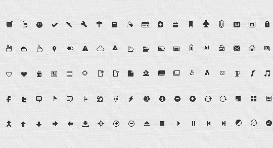 40 Symbols, Signs, Glyph And Simple Icon Sets For Your Design 27