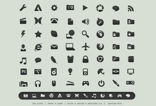 40 Symbols, Signs, Glyph And Simple Icon Sets For Your Design 10