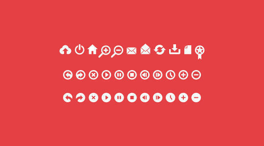 40 Symbols, Signs, Glyph And Simple Icon Sets For Your Design 32