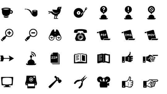 40 Symbols, Signs, Glyph And Simple Icon Sets For Your Design 36