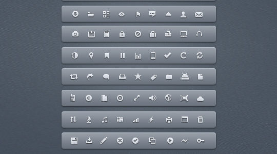 40 Symbols, Signs, Glyph And Simple Icon Sets For Your Design 39