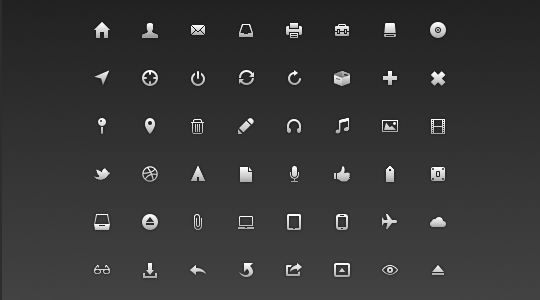 40 Symbols, Signs, Glyph And Simple Icon Sets For Your Design 41