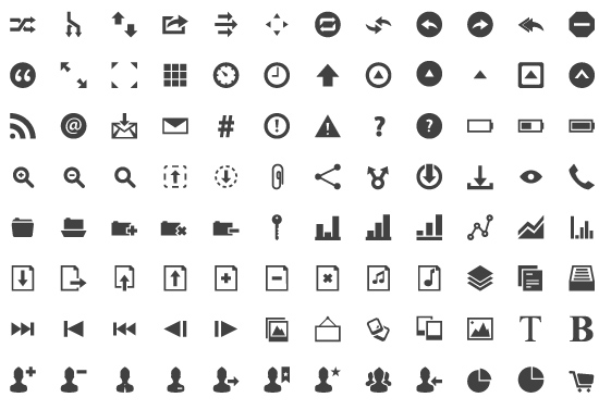 40 Symbols, Signs, Glyph And Simple Icon Sets For Your Design 6