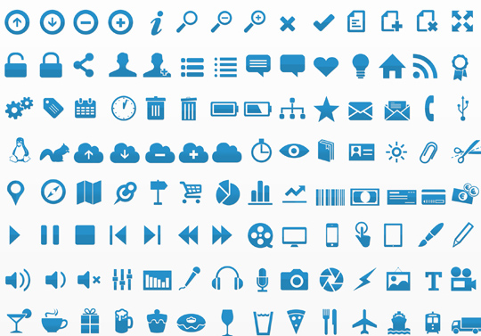 40 Symbols, Signs, Glyph And Simple Icon Sets For Your Design 8
