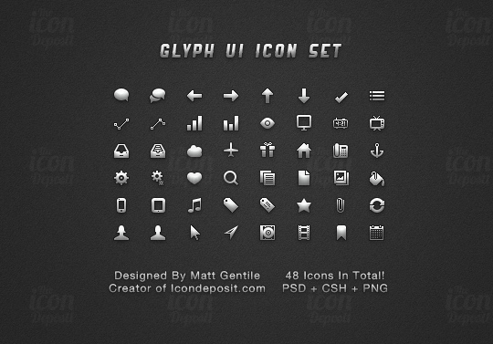 40 Symbols, Signs, Glyph And Simple Icon Sets For Your Design 7