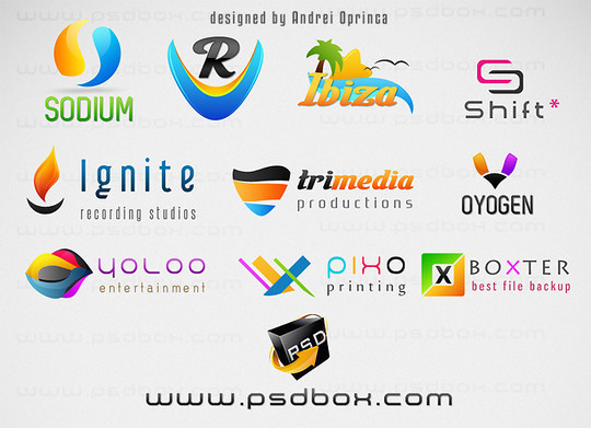 14 Useful Free PSD Logo Templates 4