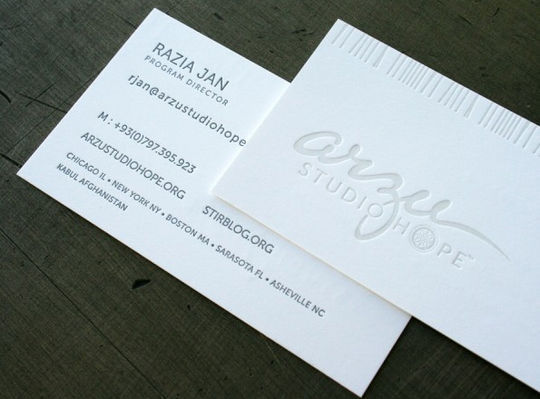 Cleverly Created White Business Cards For Your Inspiration 20