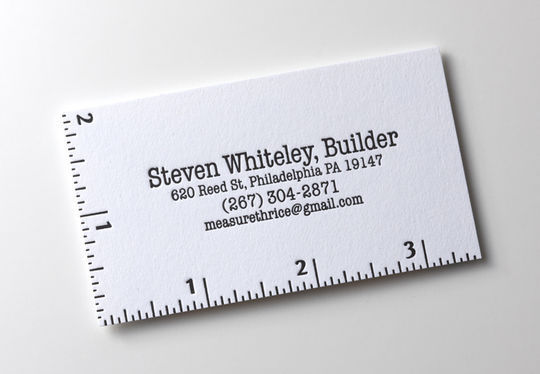 Cleverly Created White Business Cards For Your Inspiration 5