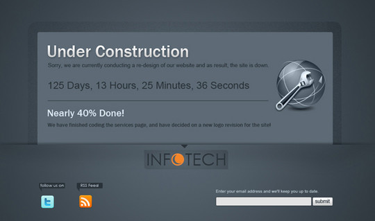 Ultimate Collection Of Free Coming Soon And Under Construction Templates 16