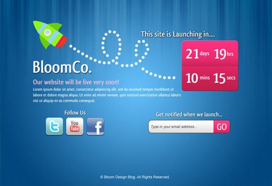 Ultimate Collection Of Free Coming Soon And Under Construction Templates 34