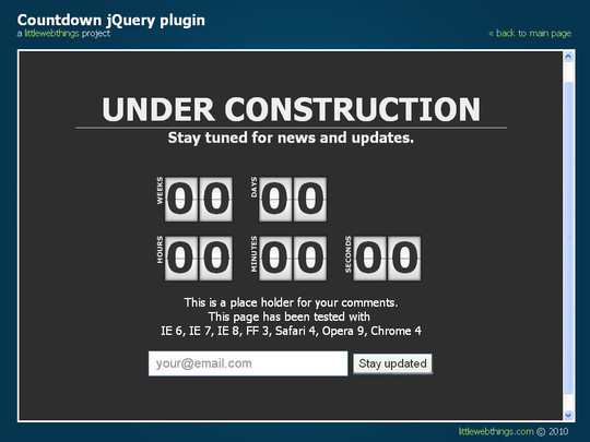 Ultimate Collection Of Free Coming Soon And Under Construction Templates 26