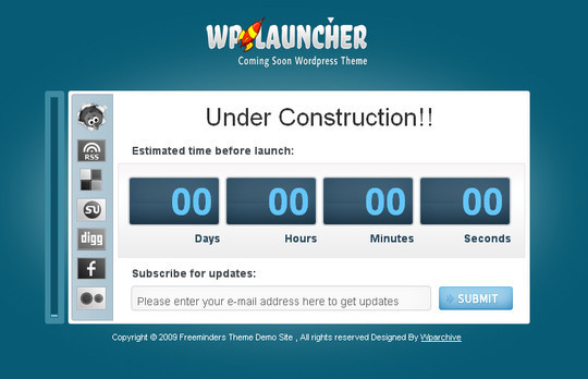 Ultimate Collection Of Free Coming Soon And Under Construction Templates 28