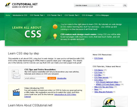 50 Useful Websites And Resources To Become A CSS Expert 6
