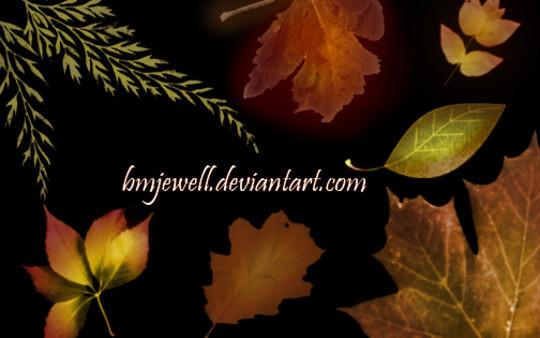 19 Free Photoshop Leaf Brush Sets 2