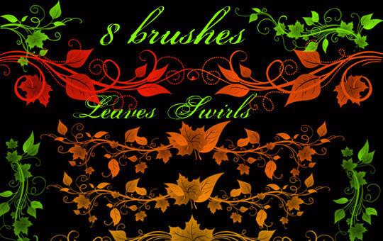 19 Free Photoshop Leaf Brush Sets 13