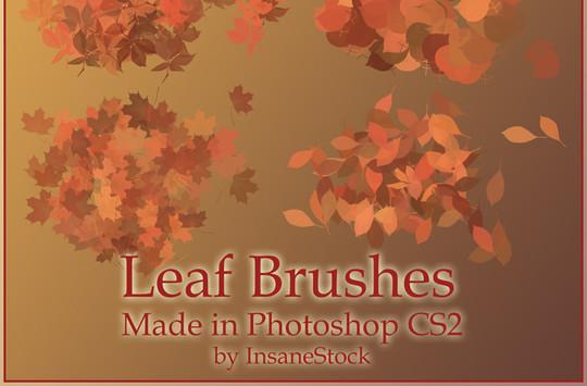 19 Free Photoshop Leaf Brush Sets 3