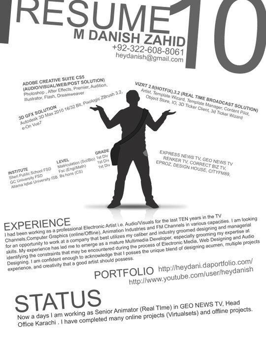 44 Unusual And Artistic Resume Designs 13