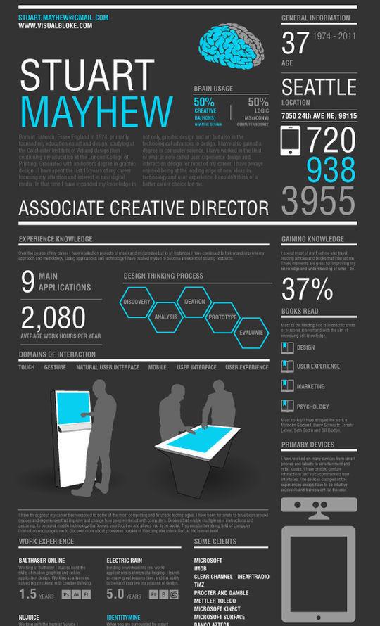 44 Unusual And Artistic Resume Designs 19