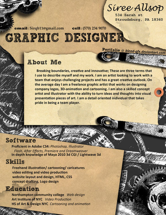 44 Unusual And Artistic Resume Designs 29