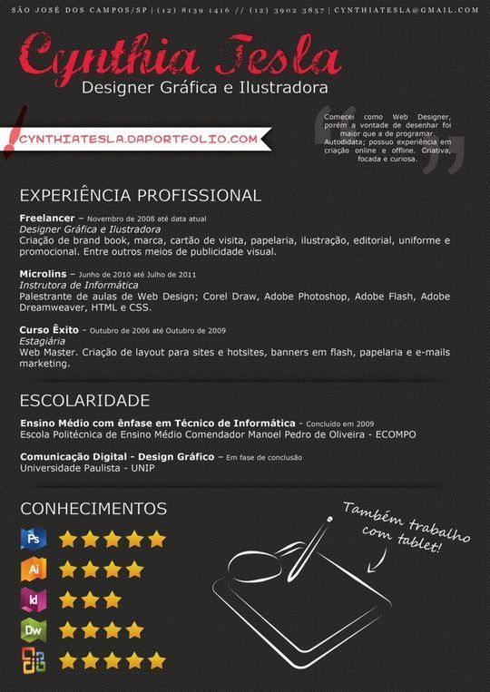 44 Unusual And Artistic Resume Designs 37