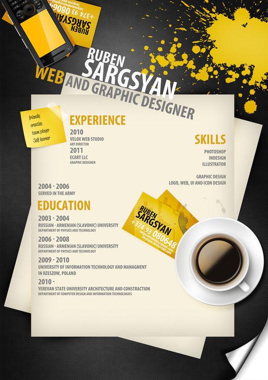 44 Unusual And Artistic Resume Designs 40