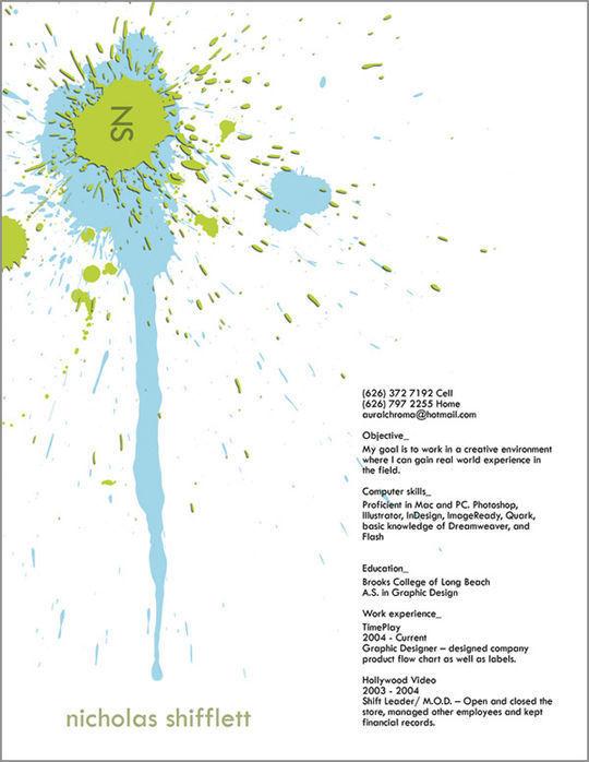44 Unusual And Artistic Resume Designs 43