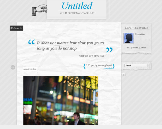 50 Elegant Free Tumblr Themes And Widgets For Blogging Experience 24