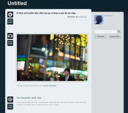 50 Elegant Free Tumblr Themes And Widgets For Blogging Experience 14